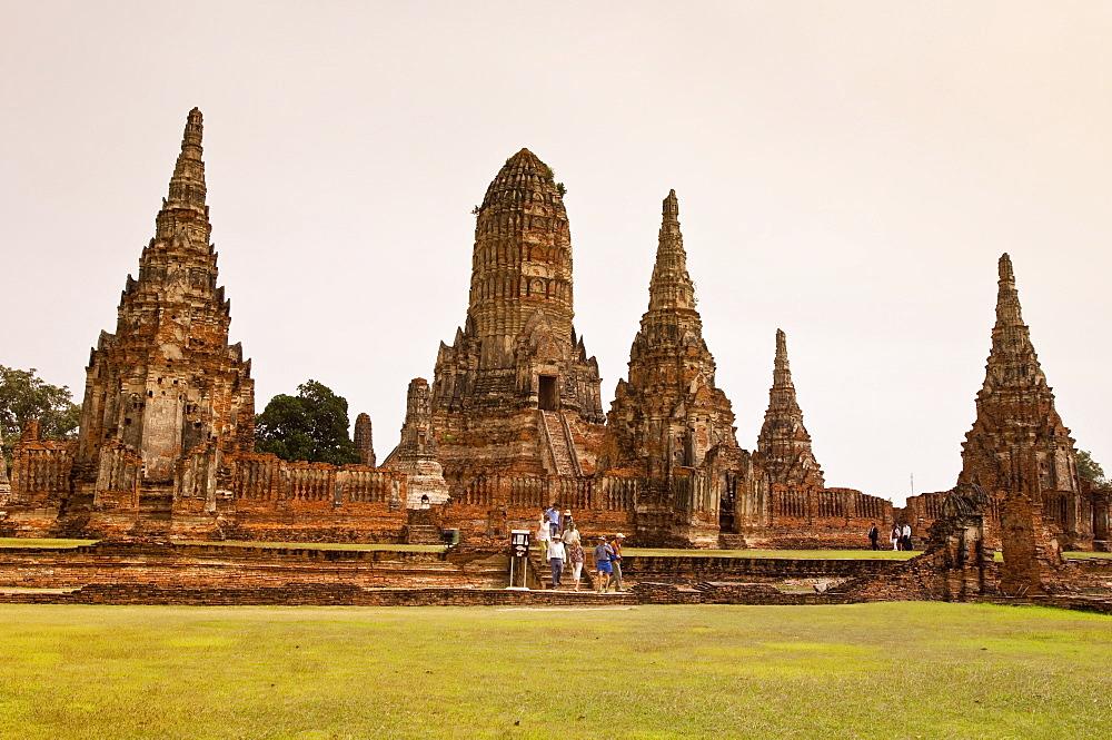 Wat Chai Wattanaram temple, Ayutthaya, UNESCO World Heritage Site, Thailand, Southeast Asia, Asia