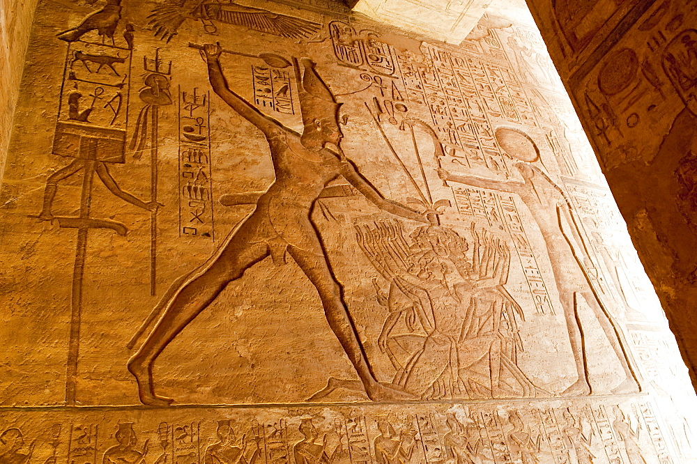 Detail, Abu Simbel, UNESCO World Heritage Site, Nubia, Egypt, North Africa, Africa