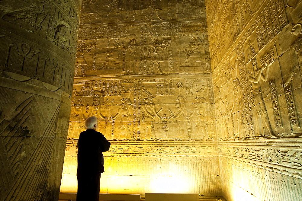 Interior, Temple of Horus, Edfu, Egypt, North Africa, Africa