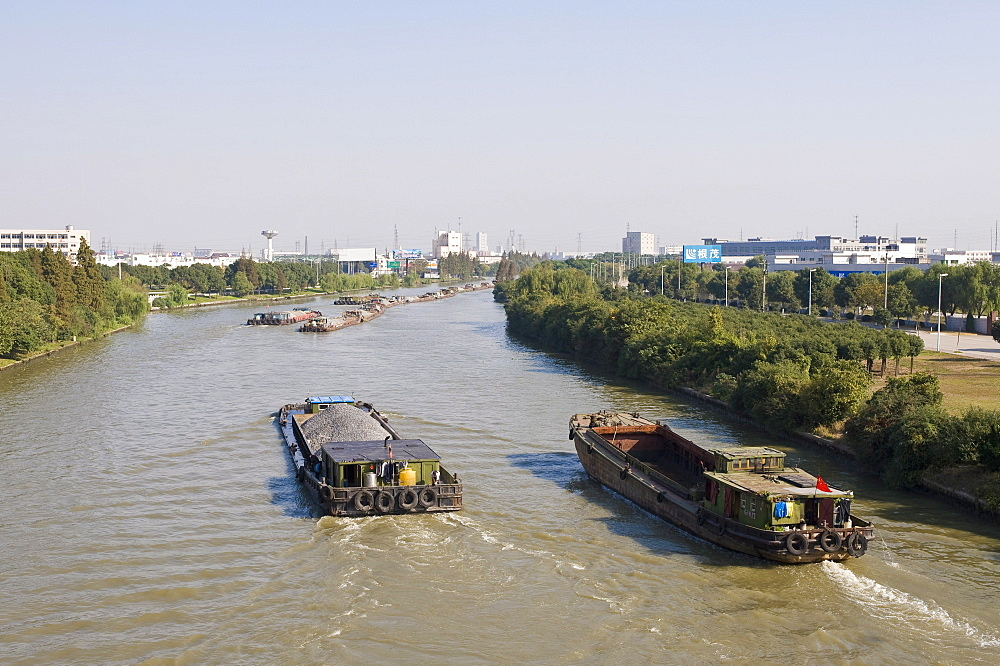 Barges on the Grand Canal, Suzhou, Jiangsu, China