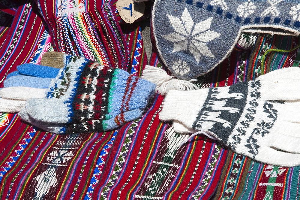 Souvenirs on Taquile Island, Lake Titicaca, Peru, South America