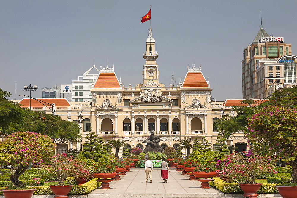Vietnam, Ho Chi Minh City, Peoples Committee Building formerly Hotel de Ville.