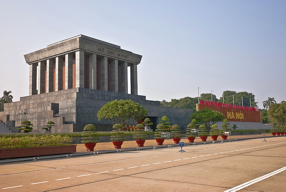Vietnam, Hanoi, Ho Chi Minh Mausoleum.