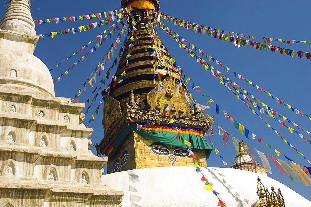 Nepal, Kathmandu, Swayambunath Monkey Temple. - 797-11150
