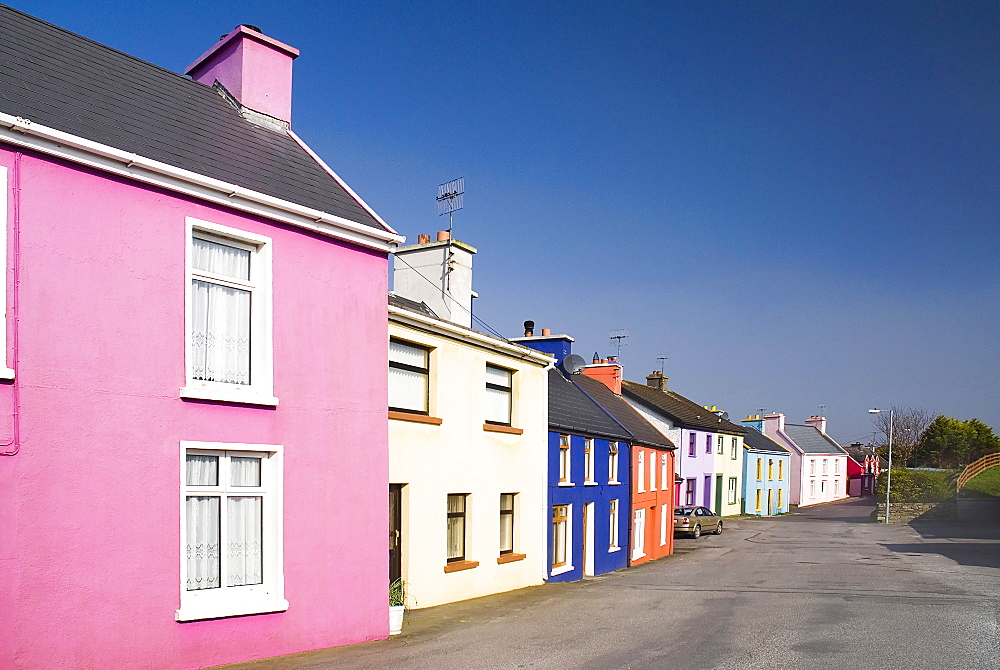 Ireland, County Cork, Eyeries, The colourful village of Eyeries on the Beara Peninsula.