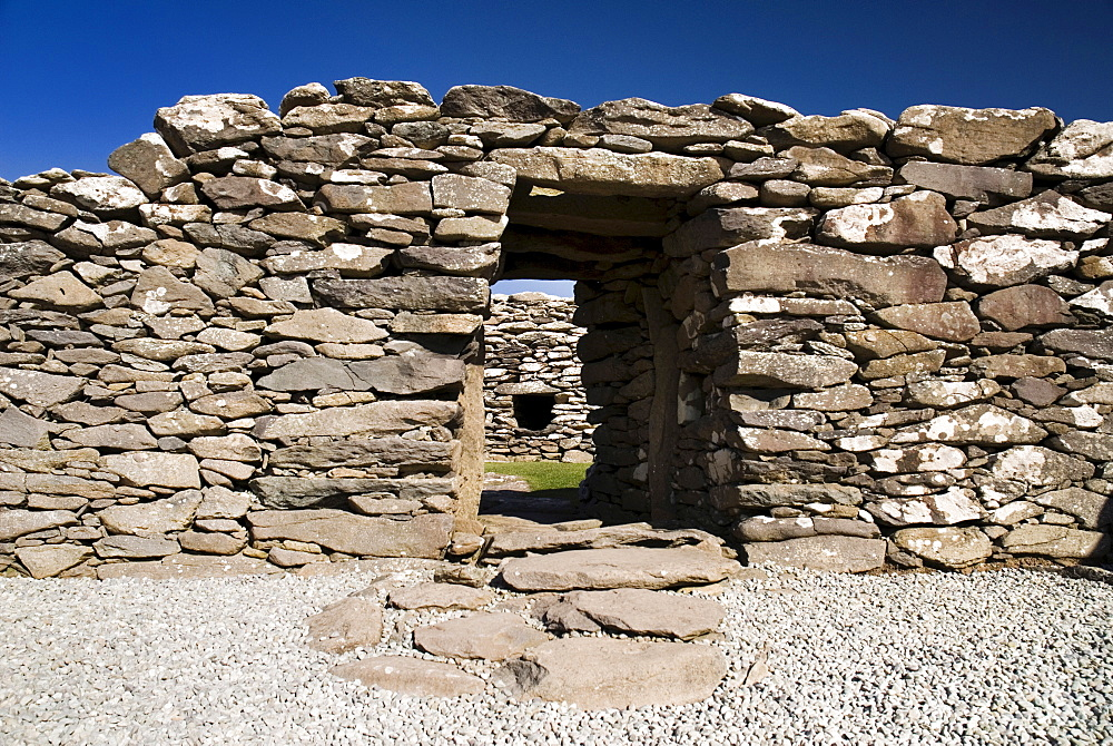 Ireland, County Kerry, Dunbeg, Peninsula Dunbeg Promontory Fort.