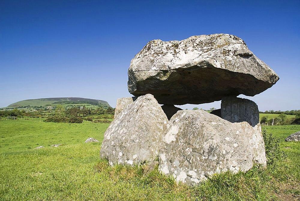 Ireland, County Sligo, Carrowmore, Dolmen at Carrowmore Megalithic site 4000 BC approx.