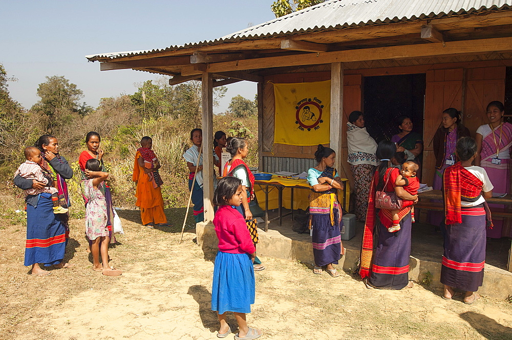 Bangladesh, Chittagong Division, Rangamati, United Nations Mother and Child health clinic in Chakma community of remote area of Barkal Upazila.