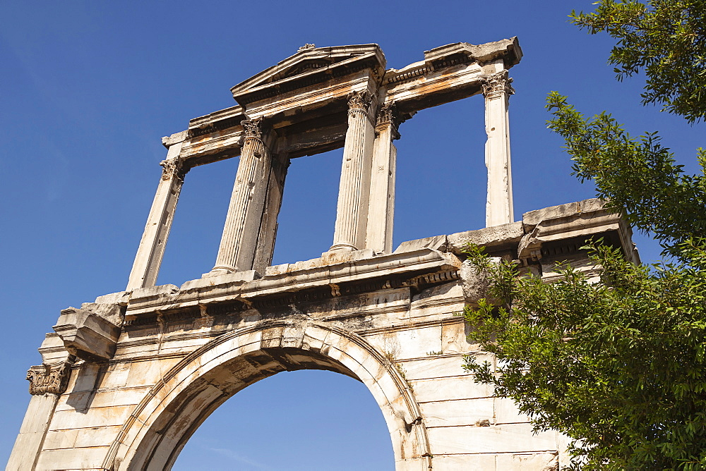 Greece, Attica, Athens, Hadrians Arch.