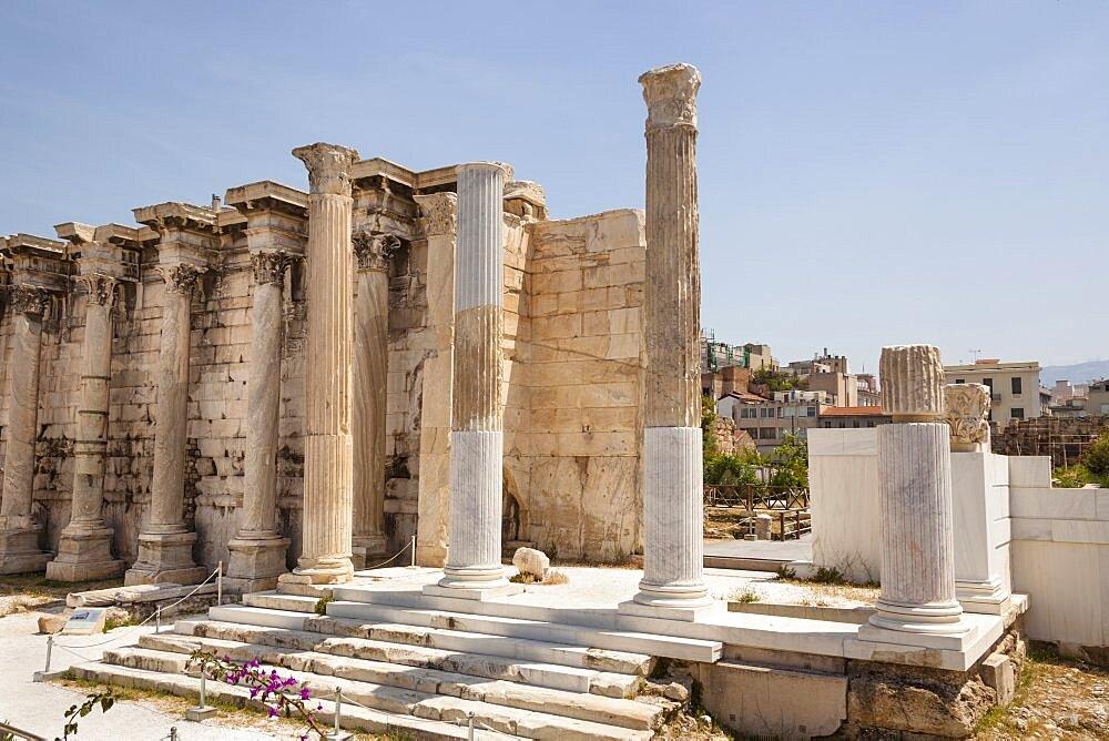 Greece, Attica, Athens, Hadrians Library.