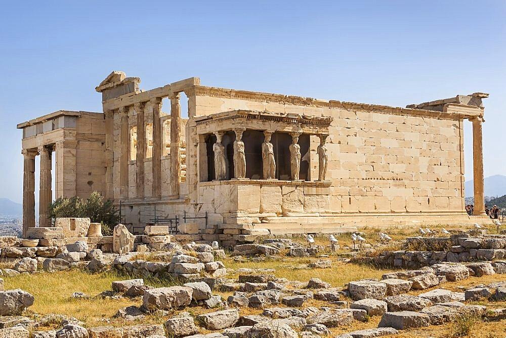 Greece, Attica, Athens, The Erechtheion, at the Acropolis.