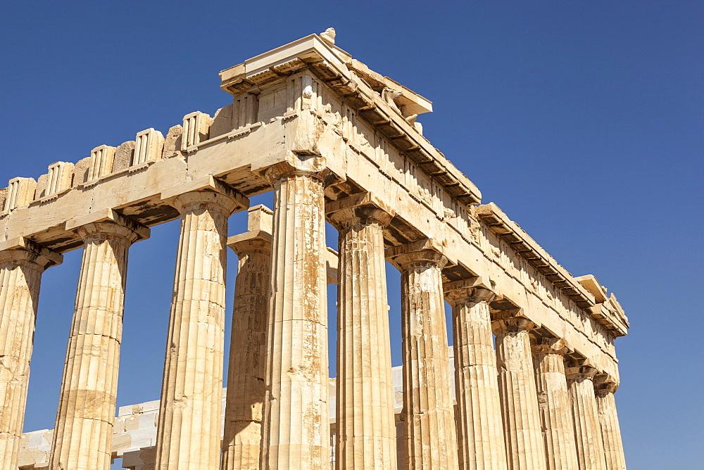 Greece, Attica, Athens, The Parthenon at the Acropolis.