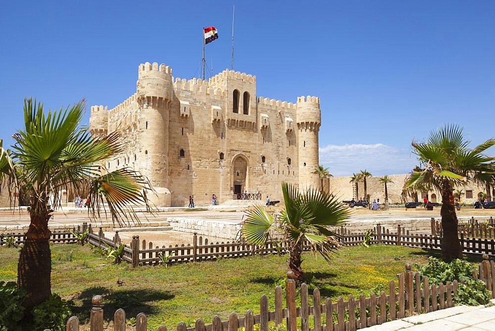Egypt, Alexandria, Citadel of Qaitbay, also known as Fort of Qaitbay.