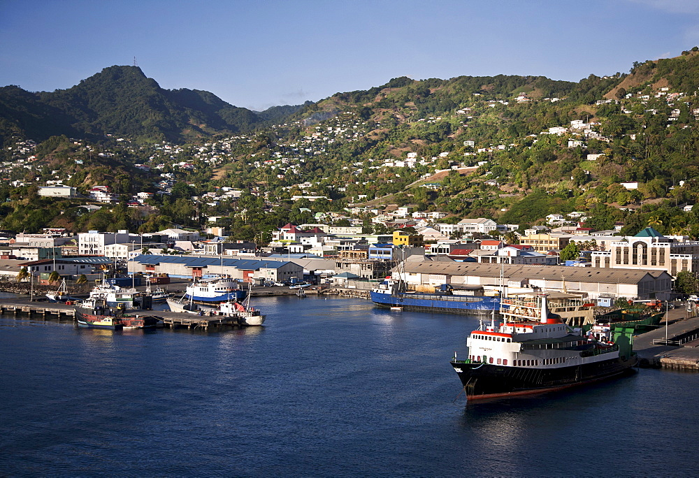 Saint Vincent and the Grenadines, Saint Vincent, Kingston, View over the port.