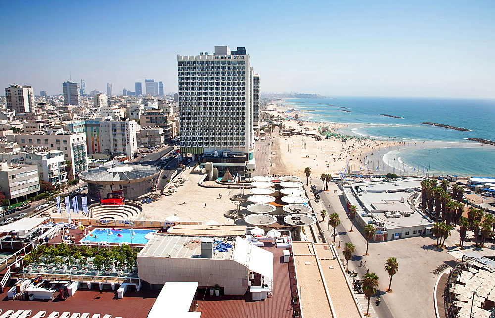 Israel, Tel Aviv, Herod Hotel on Gordon Beach, Ha'yarkon Street.