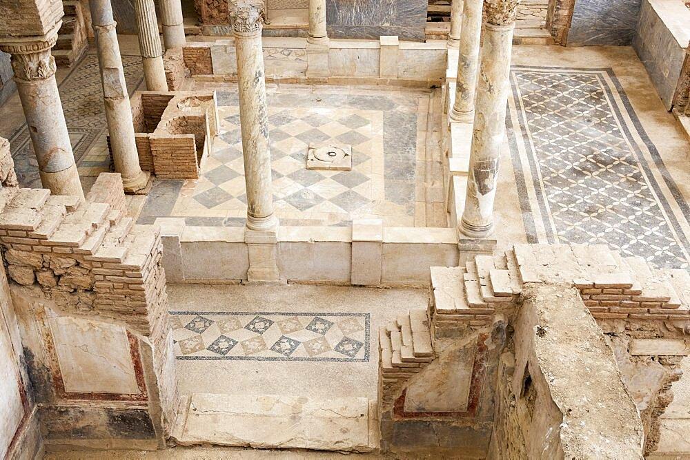 Turkey, Anatolia, Ephesus, A large room within one of the terrace houses.