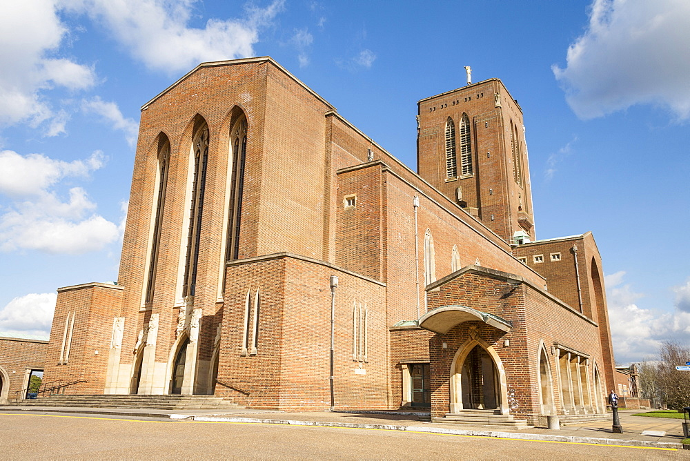 England, Surrey, Guildford, Exterior of the Cathedral.