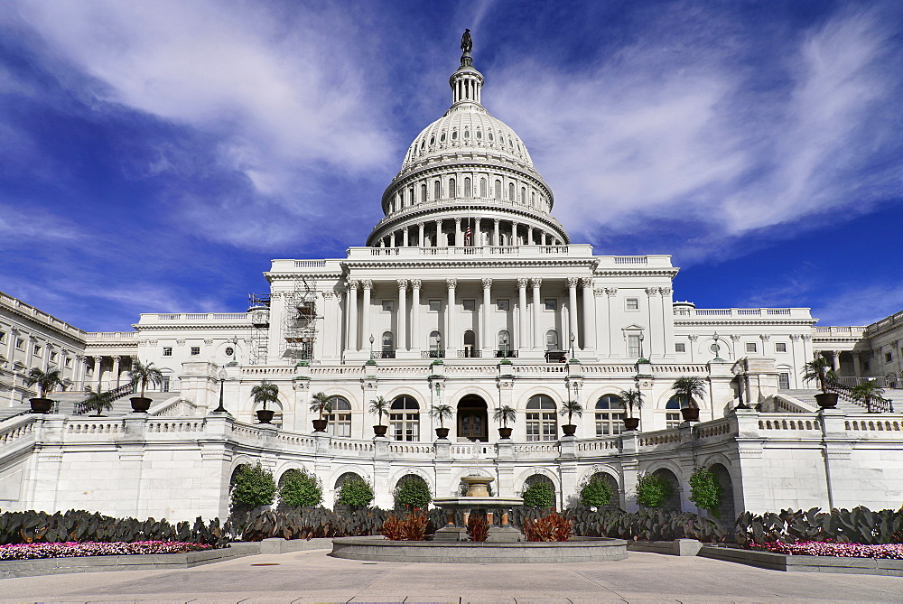 USA, Washington DC, Capitol Building, View from the building's west side.
