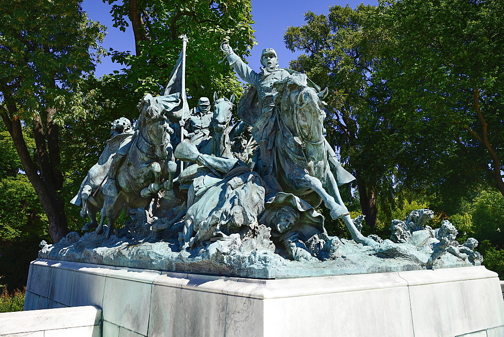 USA, Washington DC, Capitol Hill, Ulysses S. Grant Memorial, The Cavalry Charge.