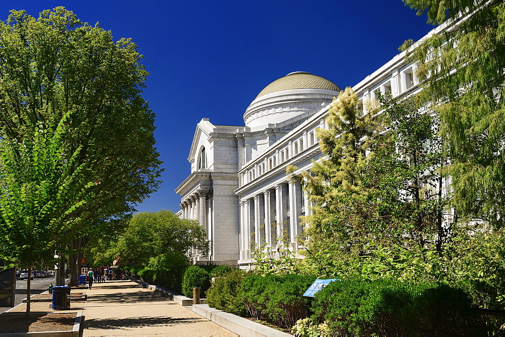 USA, Washington DC, National Mall, Smithsonian National Museum of Natural History, Exterior view.