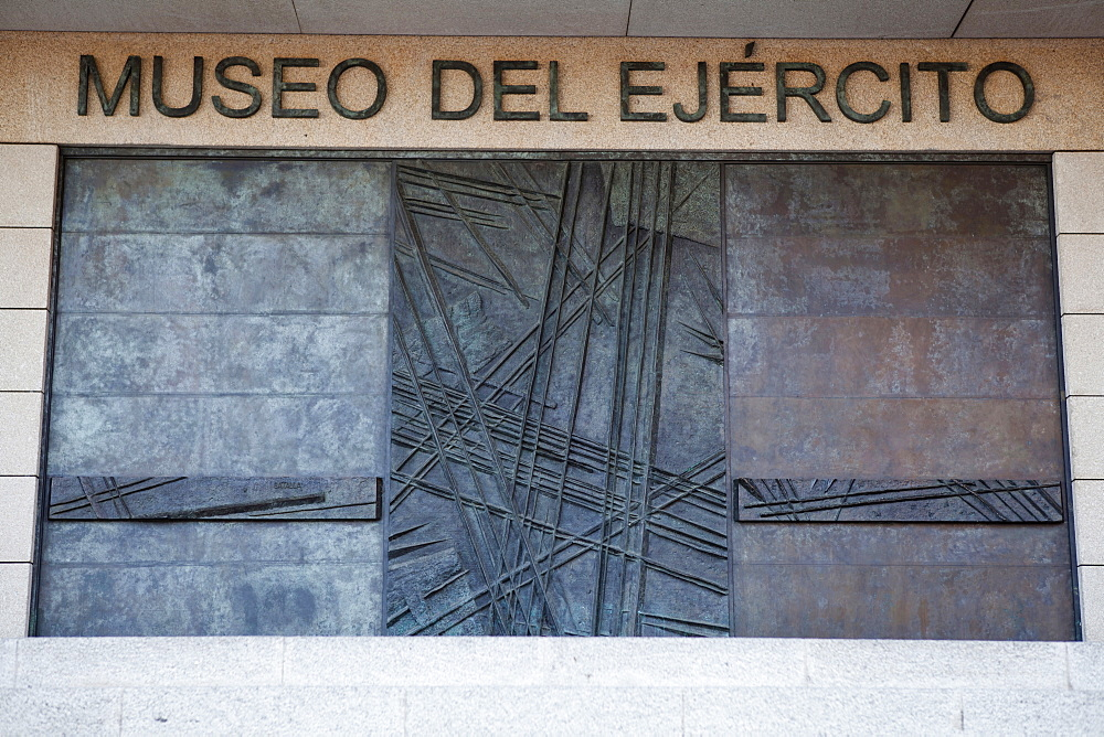 Spain, Castilla La Mancha, Toldeo, The entrance to the Museo del Ejercito Army Museum.