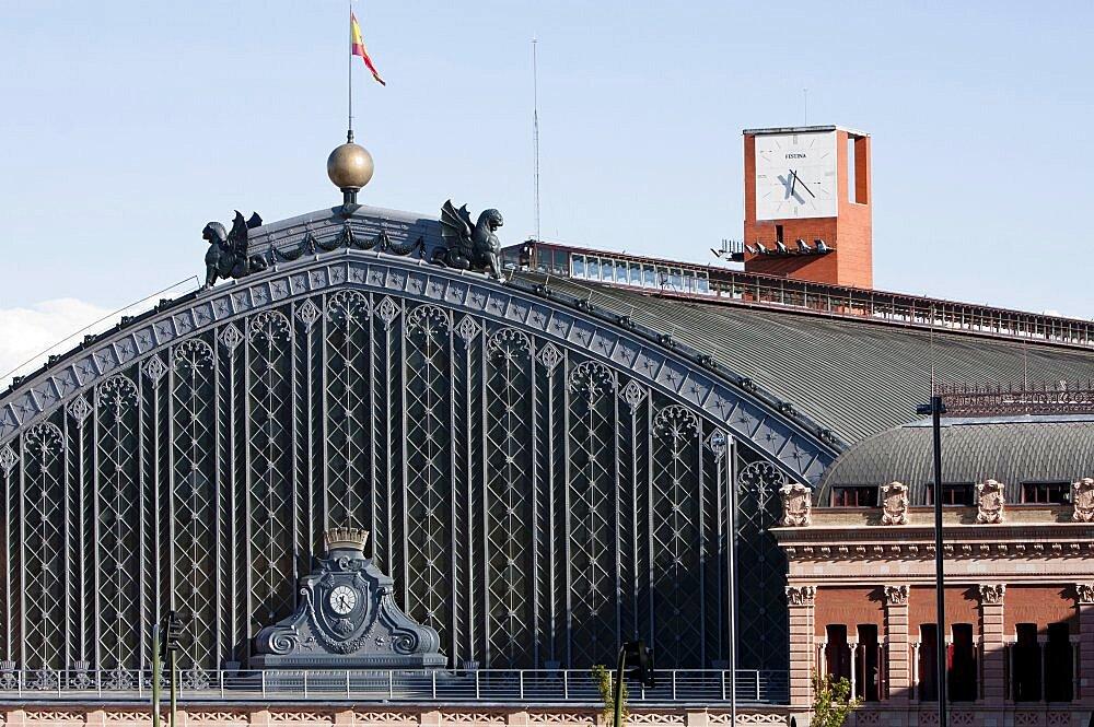 Spain, Madrid, Atocha Railway Station.