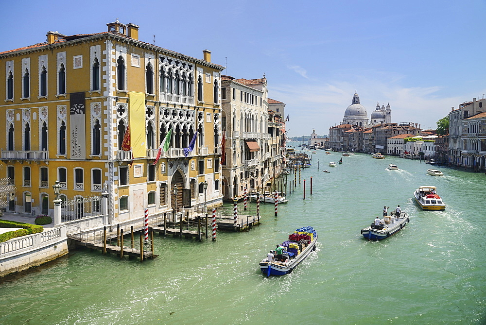 Italy, Venice, View of the Grand Canal from the Ponte dell'Accademia.  - 797-12880