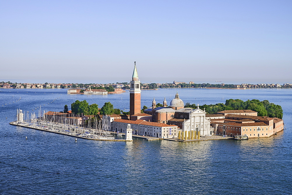 Italy, Venice, Island and Church of San Giorgio Maggiore seen from the Campanile di San Marco.