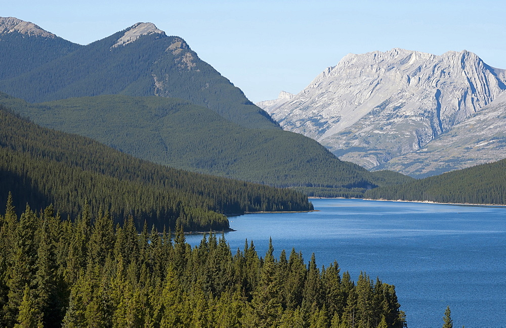 Canada, Alberta, Kananaskis, Barrier Lake with McConnel Ridge behind.