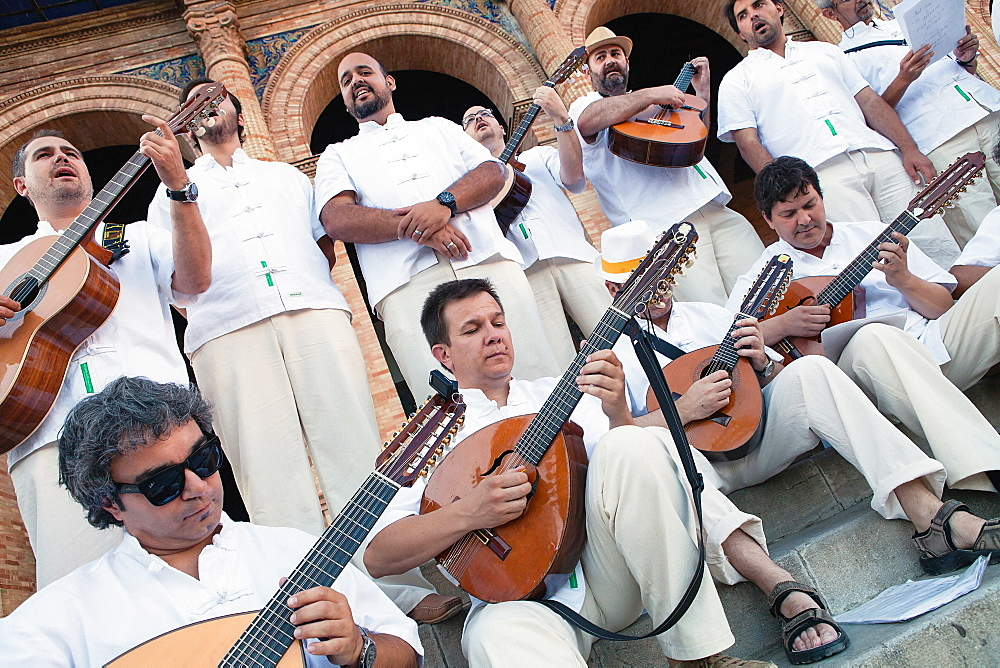 Spain, Andalucia, Seville, Flamenco Band. - 797-13027