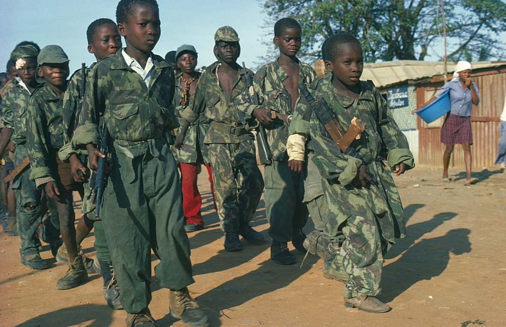ANGOLA  Conflict Child soldiers