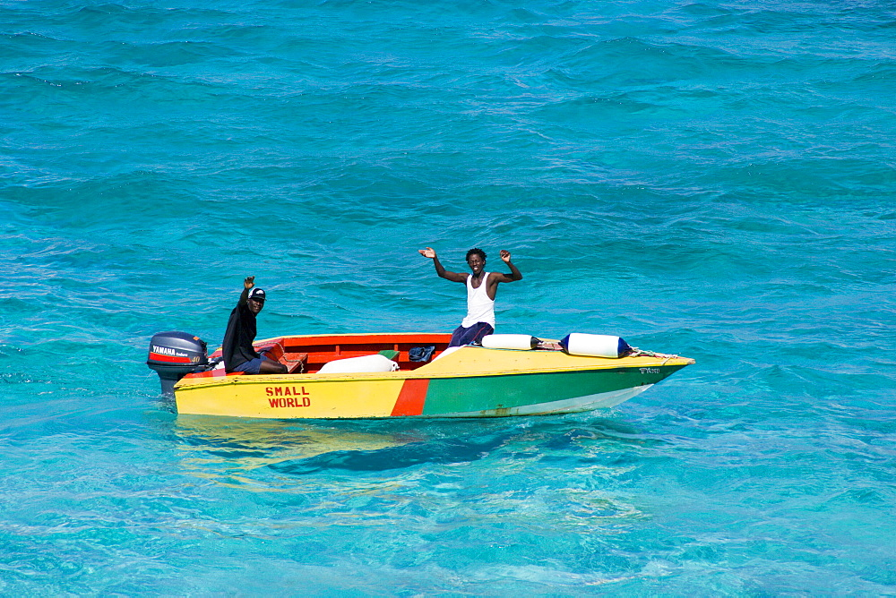 WEST INDIES St Vincent & The Grenadines Tobago Cays Water taxi from Union Island