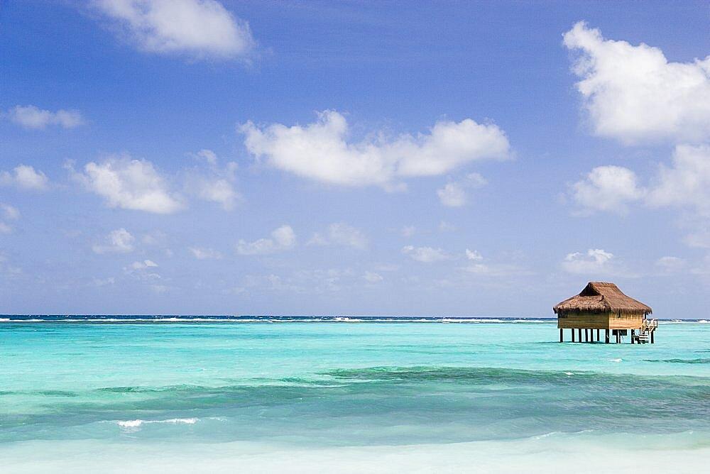 WEST INDIES St Vincent & The Grenadines Canouan Amrita Spa offshore treatment rooms off Godahl Beach at Raffles Resort