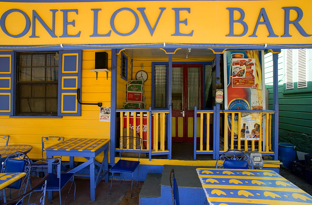 WEST INDIES Barbados St James One Love Bar in Holetown
