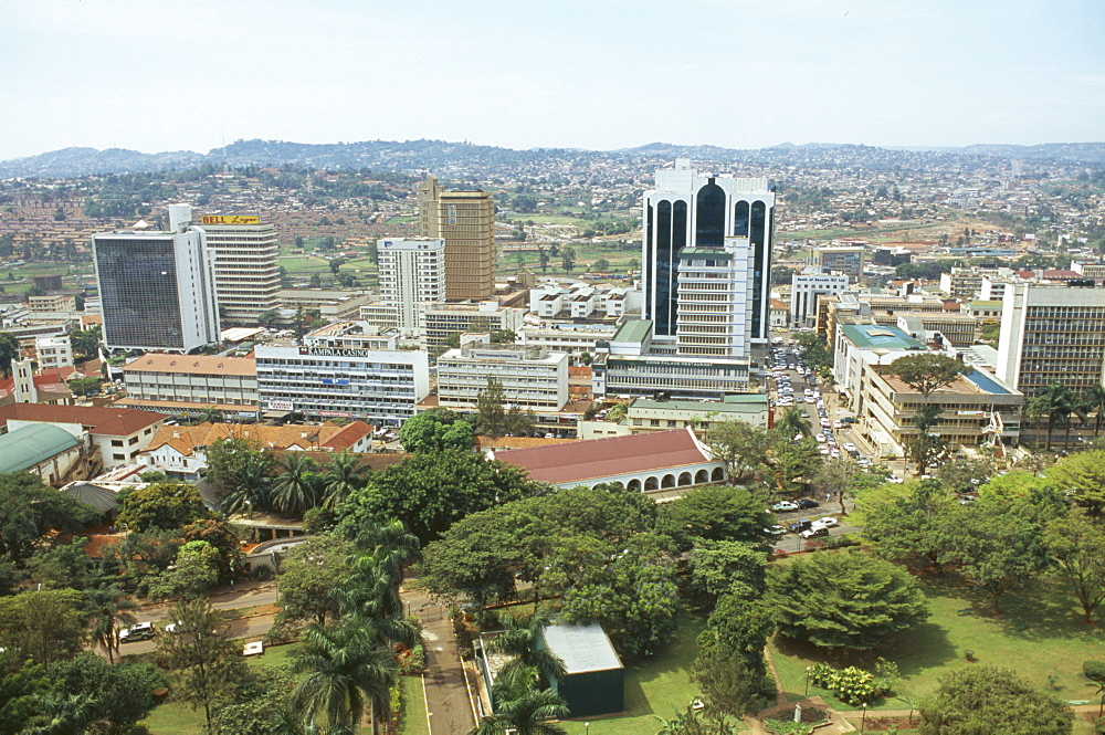 UGANDA  Kampala View over modern town from a rooftop.