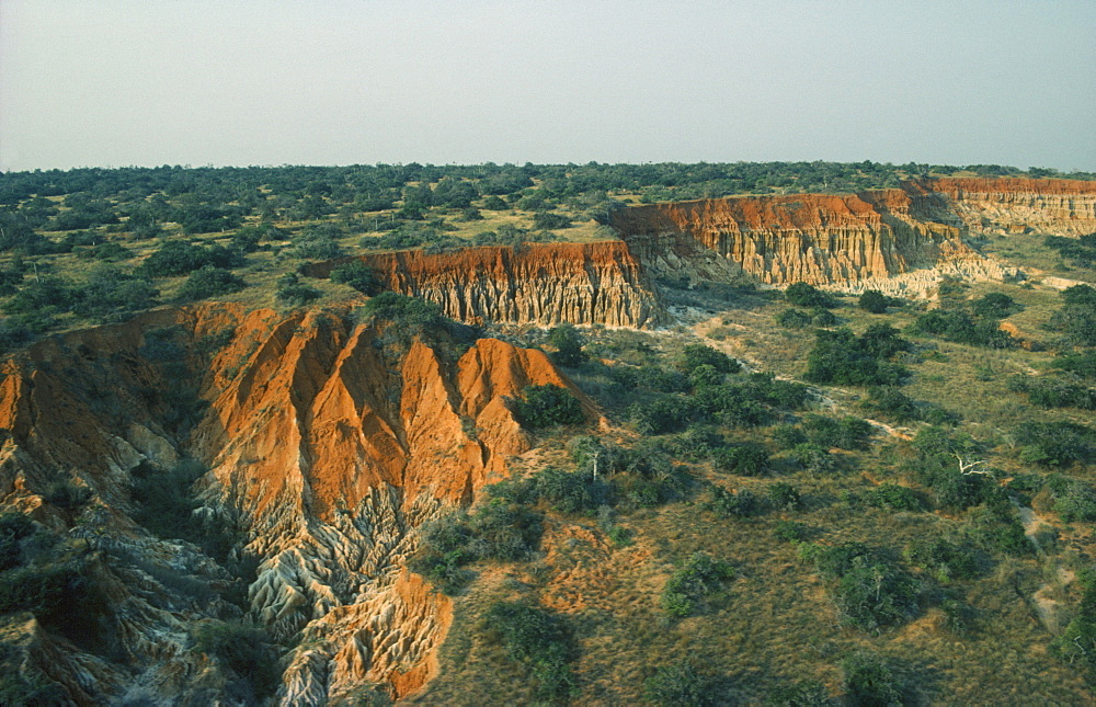 ANGOLA  Landscape Landscape with plateau and jagged rock gully.