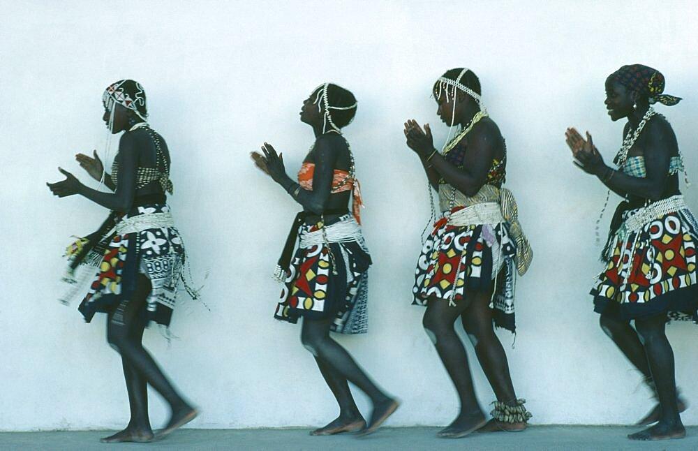 ANGOLA  Tribal Peoples Traditional dancing.