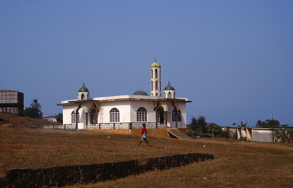 SIERRA LEONE  Freetown Mosque exterior.