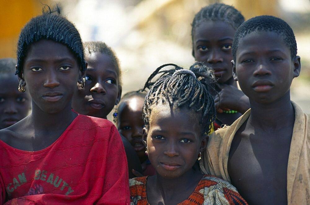 GUINEA BISSAU  Cacheu Region Senegalese refugee children from Casamance