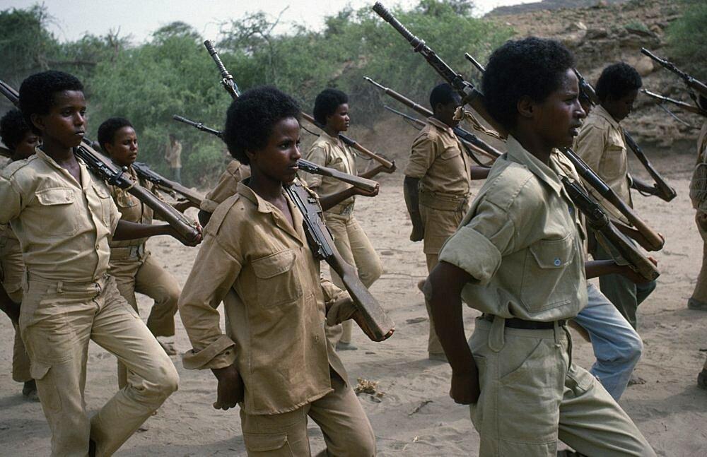 ERITREA  Military Eritrean People s Liberation Front female guerilla soldiers training EPLF
