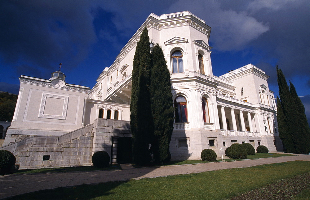 Livadia Palace, Exterior view from the grounds, Yalta, Ukraine