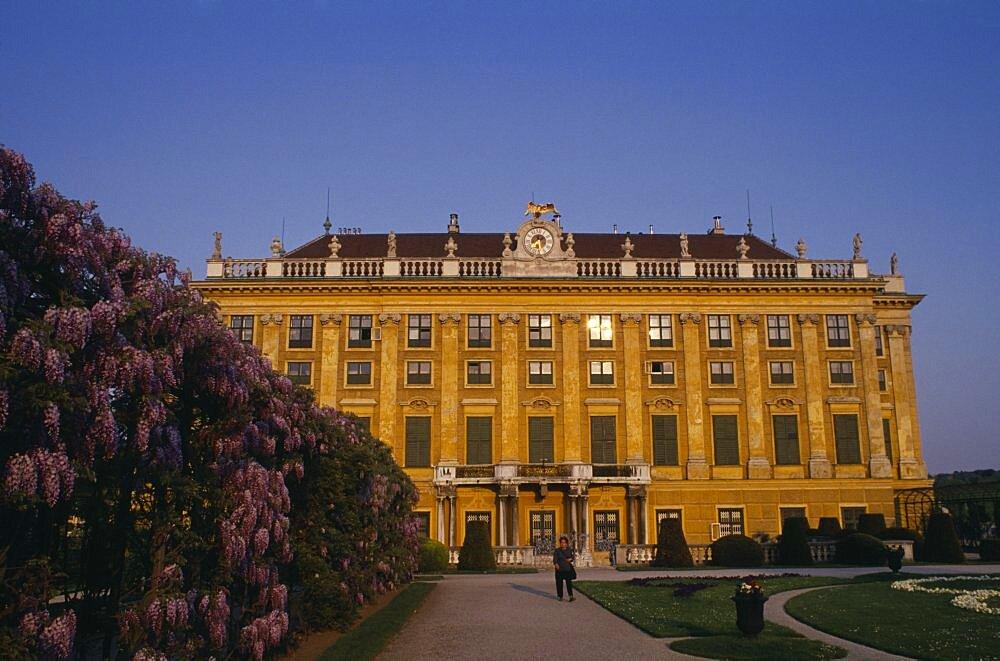 Schonbrunn Palace, Exterior and wisteria hedge, Vienna, Austria