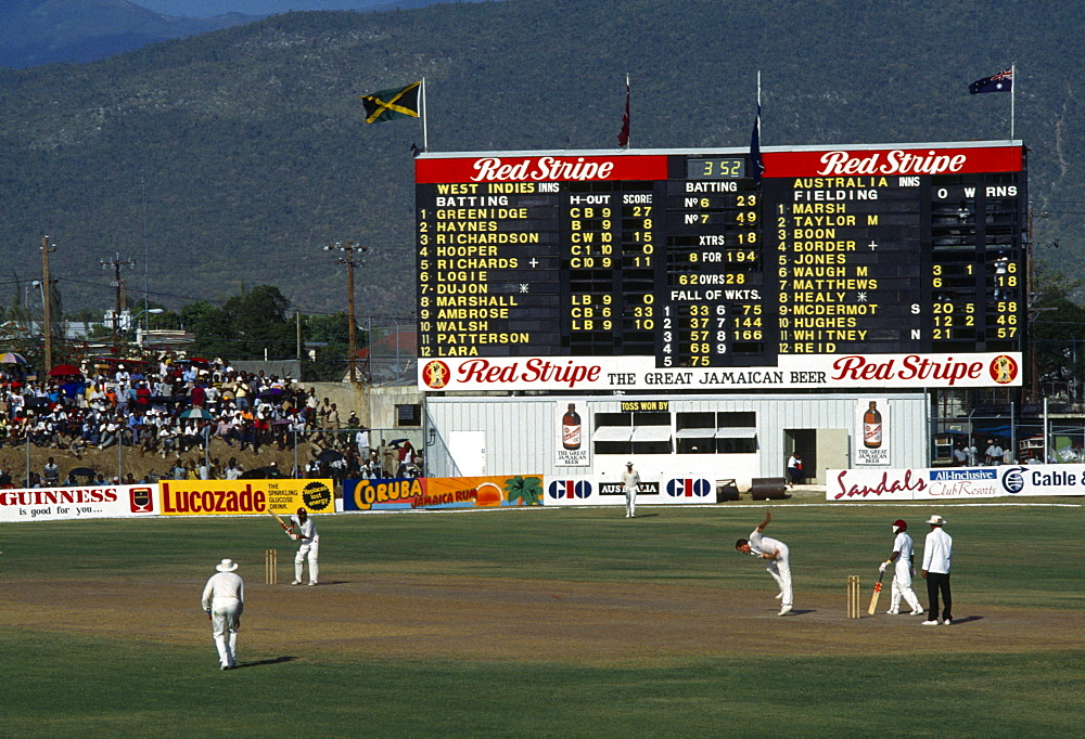 Jamaica, Kingston, West Indies V Australia test series at Sabina Park cricket grounds