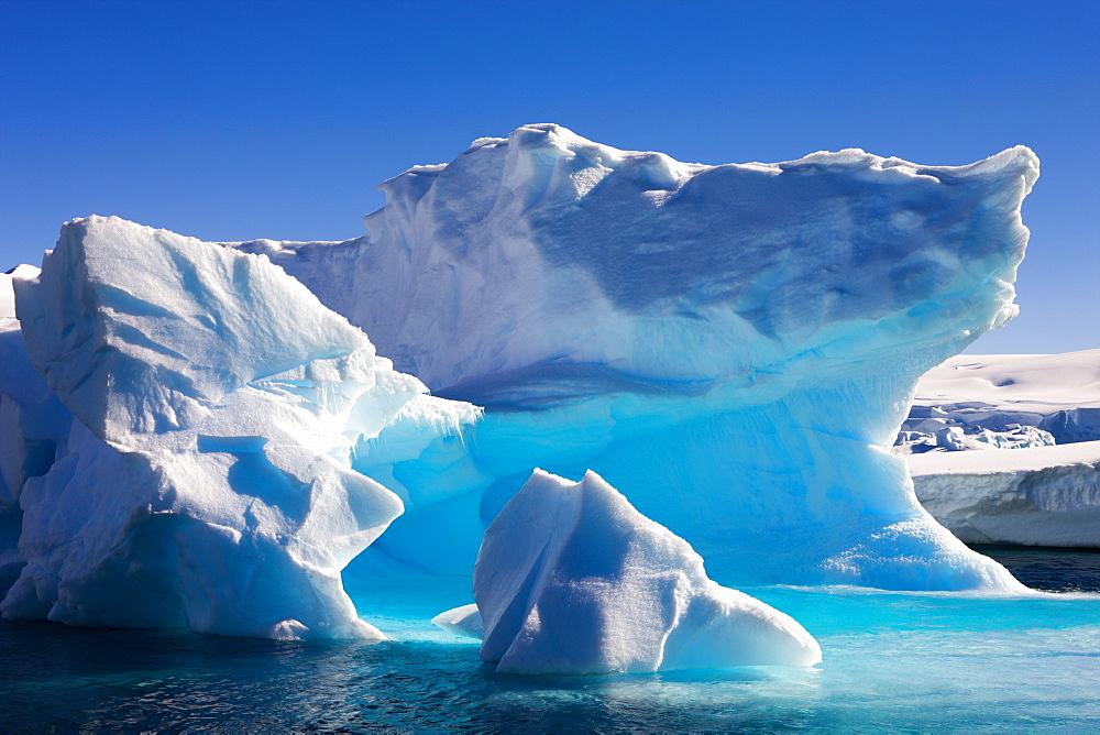Detail of an iceberg near Enterprise Island, Antarctic Peninsula, Antarctica, Polar Regions