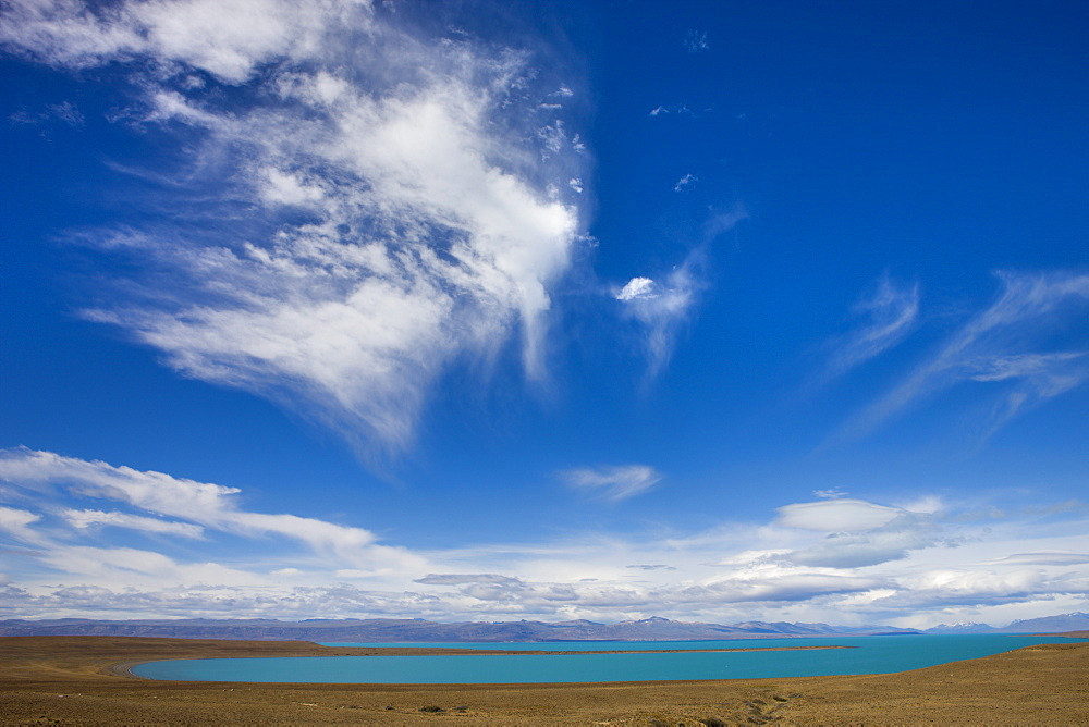 Cloud formations over Lago Argentina near El Calafate, Patagonia, Argentina, South America