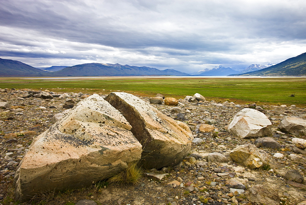 Rocky plains of Patagonia near El Calafate, Patagonia, Argentina, South America