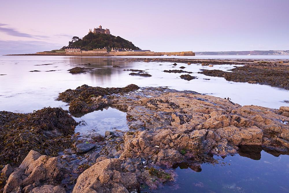 St. Michaels Mount at dawn, Cornwall, England, United Kingdom, Europe