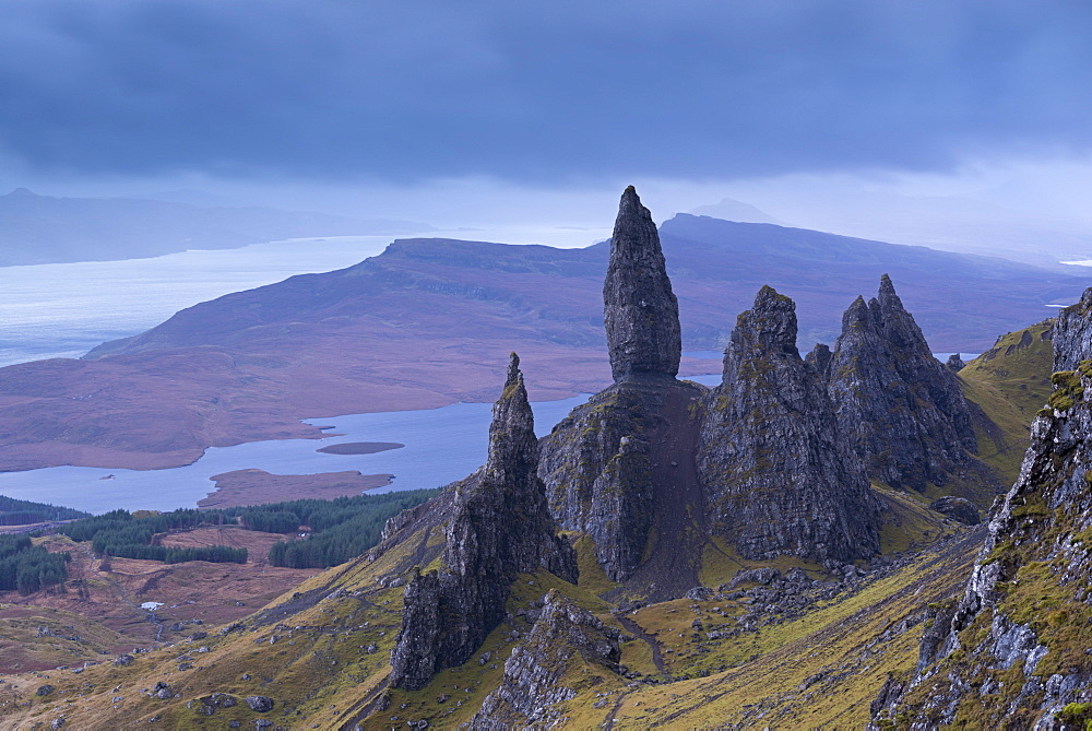 Old Man of Storr on the Isle of Skye, Inner Hebrides, Scotland, United Kingdom, Europe