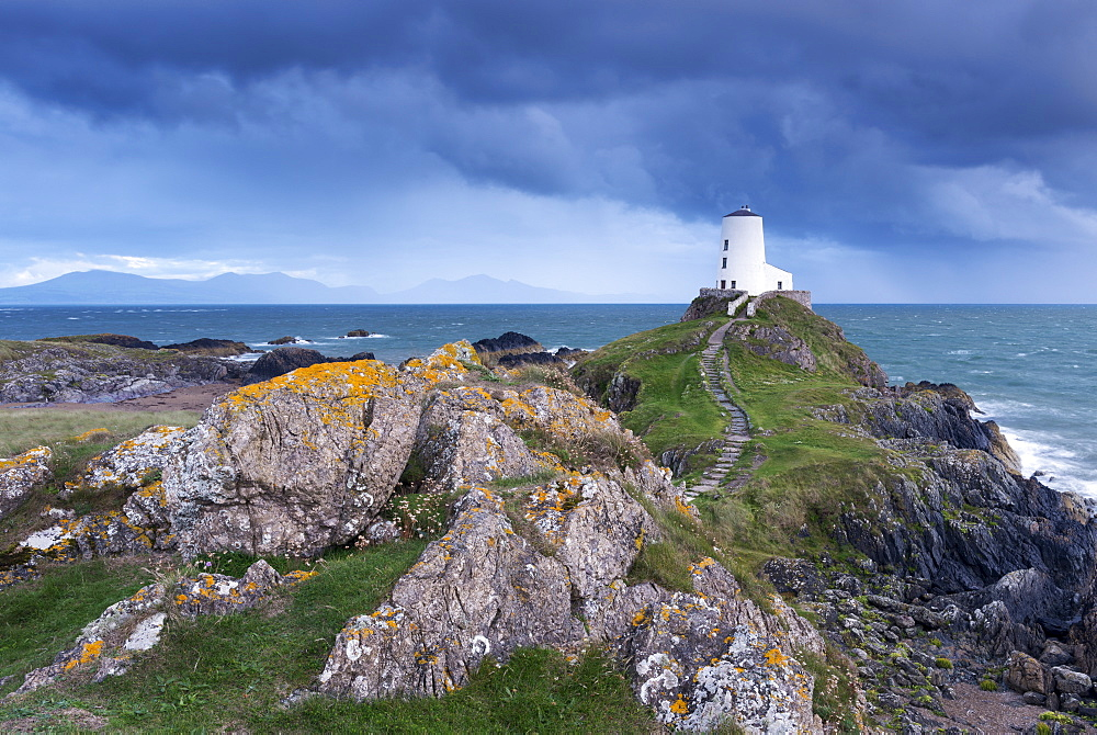 Twr Mawr lighthouse on Llanddwyn Island, Anglesey, Wales, United Kingdom, Europe