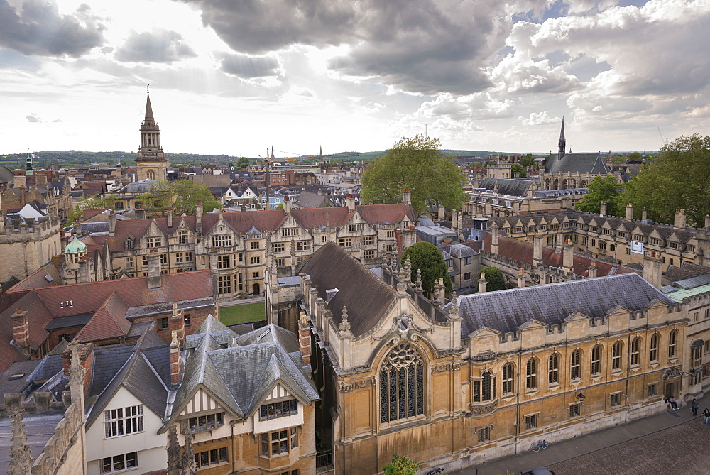 Brasenose College and Oxford skyline, Oxfordshire, England, United Kingdom, Europe
